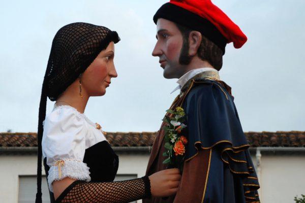 Els gegants Jordi i Núria